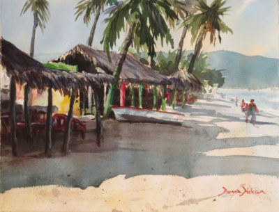 watercolor by Donna Dickosn  Guayabitos