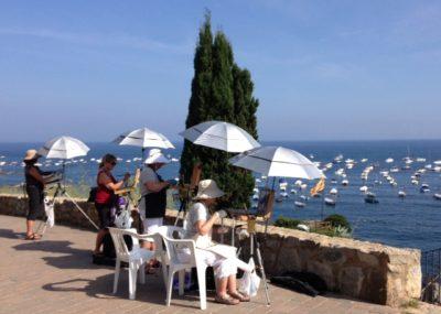 parapluies peintres