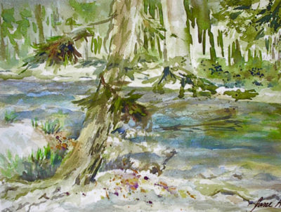Peters Valley Watercolor Jane Brennan 4