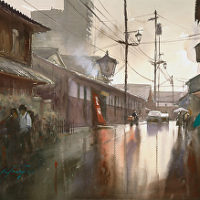 Watercolor with Internationally acclaimed, Keiko Tanabe