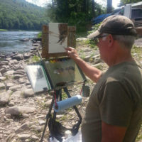 Plein Air Painting in the Delaware Water Gap National Recreation Area