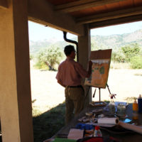 Painting and Sketching amongst olive and fig groves ~ stay in a peaceful country Finca, SW Spain