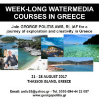 Watercolor Workshop with George Politis AWS, RI in Thassos, Greece