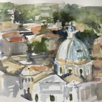 Watercolor Sketching on Location: Italy with Anne Kullaf