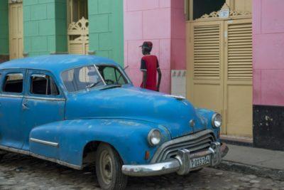 Trinidad, Cuba, classic car in old town