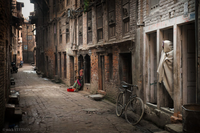 — Although Bhaktapur has a booming tourist trade, most of the residents are poor, eking out their living as laborers or farmers, and living in dilapidated Newari brick homes. This kind of poverty is typical of most Hindus living in Nepal and northern India.