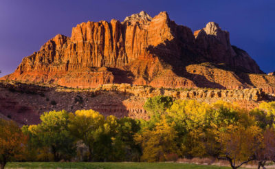 Zion Photo Workshops with Michael DeYoung - Mt. Kinesava at sunset
