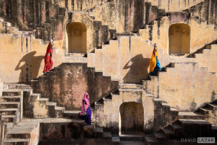 The stepwell by David Lazar with ladies in saris on India photo tour