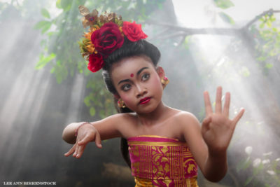 Bali girl in traditional costume on Luminous Journeys photo tour.