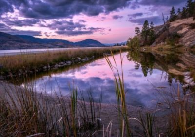 blue hour in the Okanagan Valley copyright Darlene Hildebrandt