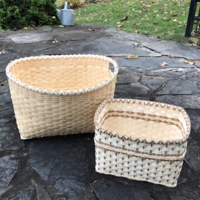 Peters Valley Basketry Pam Wilson two baskets b