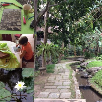 Rediscover the joy of creating surrounded by beautiful gardens in Ubud, Bali.