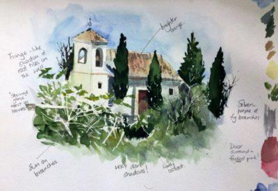 Spain sketch Sian Dudley