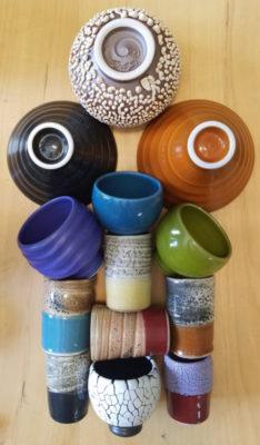 Amy Kline's colorful glaze palette